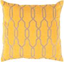"Puerton Trellis Design 18"" Throw Pillow, Saffron/Beige"
