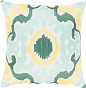 "Effulgence Mint Medallion 22"" Throw Pillow, Multi"
