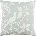 "Kingdom Birch Light Gray 18"" Throw Pillow, Light Blue/Ivory"
