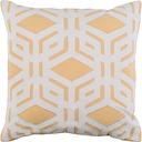 "Millbrook Geometric 20"" Throw Pillow, Mustard/Ivory/Beige"