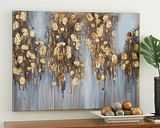 Donier Wall Art, Blue/Gold Finish