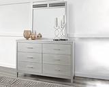 Olivet Dresser and Mirror, Silver