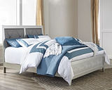 Olivet Queen Panel Bed, Silver