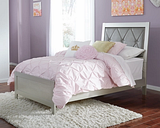 Olivet Twin Panel Bed, Silver