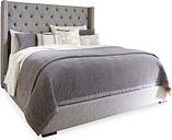 Sorinella King Upholstered Bed, Gray