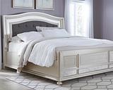Coralayne King Panel Bed, Silver