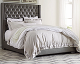 Coralayne Queen Upholstered Bed, Gray