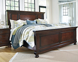 Porter King Panel Bed, Rustic Brown