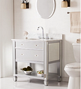 Becky Accent Cabinet and Sink, Metallic