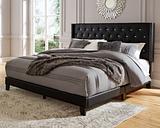 Vintasso King Upholstered Bed, Black