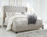 Jerary King Upholstered Bed, Gray