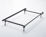 Frames and Rails Twin/Full Bolt on Bed Frame, Metallic