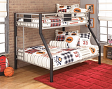 Dinsmore Twin over Full Bunk Bed, Black/Gray