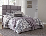 Dolante King Upholstered Bed, Gray