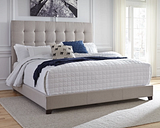 """Dolante King Upholstered Bed with 10"""" Hybrid Mattress in a Box"""