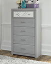 Arcella Chest of Drawers, Gray