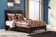 Zanbury Queen Panel Bed, Merlot