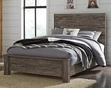 Cazenfeld Full Panel Bed, Black/Gray