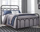 Nashburg Full Metal Bed, Black