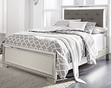 Lonnix Full Panel Bed, Silver Finish