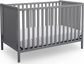 Delta Children Heartland Classic 4-in-1 Convertible Baby Crib, Gray