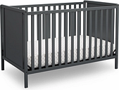 Delta Children Heartland Classic 4-in-1 Convertible Baby Crib, Charcoal/Gray