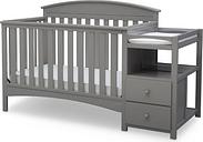 Delta Children Abby Convertible Baby Crib N Changer, Gray