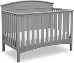 Delta Children Archer 4-in-1 Convertible Crib, Gray
