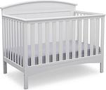 Delta Children Archer 4-in-1 Convertible Crib, White