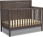 Delta Children Cambridge 4-in-1 Convertible Crib, Rustic Gray