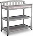 Delta Children Arch Top Changing Table with Wheels, Gray