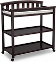 Delta Children Arch Top Changing Table with Wheels, Dark Chocolate