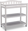 Delta Children Bell Top Changing Table with Wheels, White