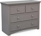 Delta Children Serta 4 Drawer Dresser, Gray