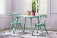Delta Children Windsor Kids Wood Table and 2 Chair Set, Aqua