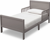 Delta Children Fancy Wood Toddler Bed, Gray