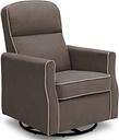 Delta Children Clair Slim Nursery Glider Swivel Rocker Chair, Graphite