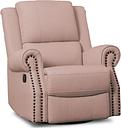 Delta Children Dexter Nursery Recliner Swivel Glider Chair, Blush Pink