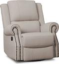 Delta Children Dexter Nursery Recliner Swivel Glider Chair, Flax