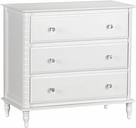 3 Drawer Rowan Valley Linden White Dresser, White