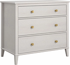 Woodgrain Finish Monarch Hill Poppy Ivory Oak Dresser, Ivory