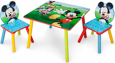 Delta Children Disney Mickey Mouse Table and Chair Set, Multi
