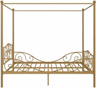 Kids Metal Canopy Full Bed, Gold Finish