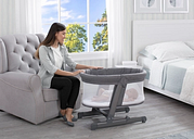Simmons Kids Oval City Sleeper Bassinet, Gray