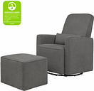 Davinci Olive Glider and Ottoman, Charcoal