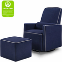 Davinci Olive Glider and Ottoman, Blue