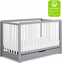 Carter's by Davinci Colby 4-in-1 Convertible Crib with Trundle Drawer, Gray/White