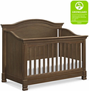 Million Dollar Baby Classic Louis 4-in-1 Convertible Crib with Toddler Bed Conversion Kit, Brown
