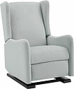 Baby Relax Rylee Tall Wingback Nursery Glider Recliner Chair, Light Gray