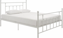 Manila Metal Queen Bed, White